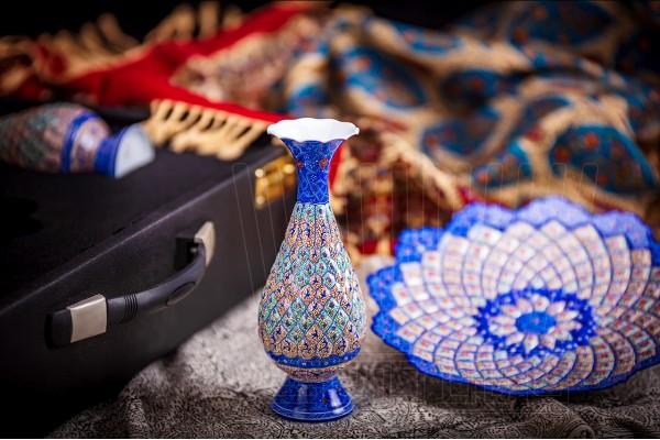 Enameling Vase and Plate Qoldar 25