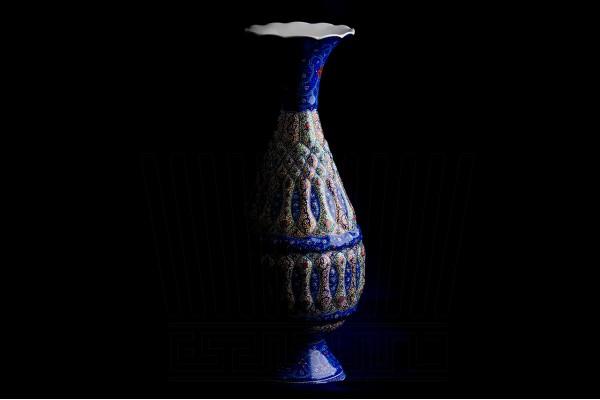 Enameling Vase and Plate Qoldar 30