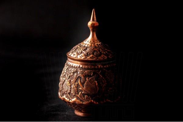 Engraving Sugar Pot & Blony Vase 2