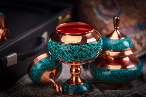Turquoise Chocolate Pot