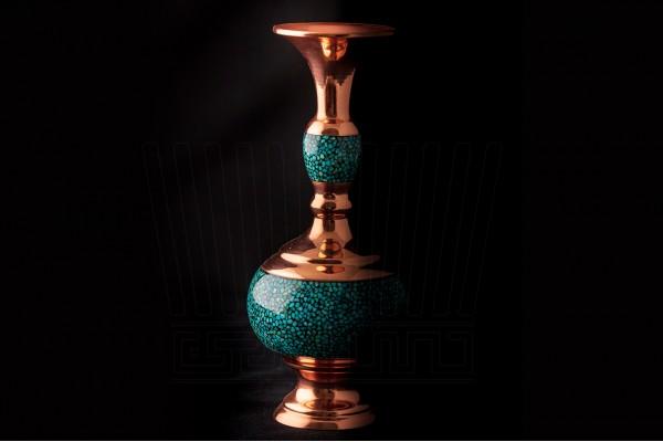 Turquoise Gilasy Vase