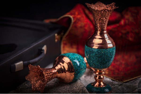Turquoise Hyacinth Vase