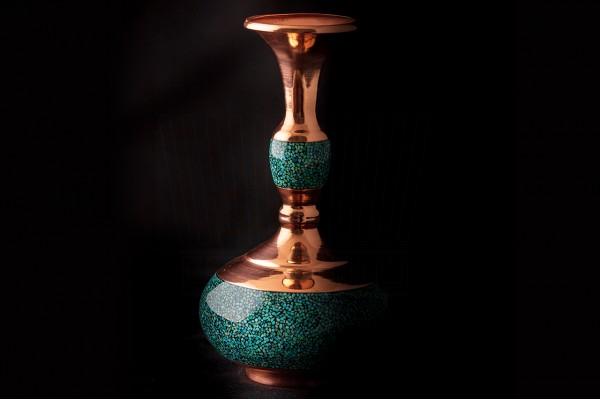 Turquoise Turnip Vase
